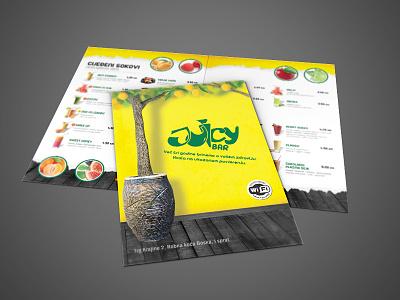 Juicy Bar menu juice