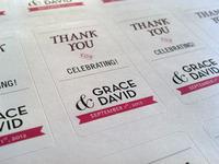 wedding favor labels