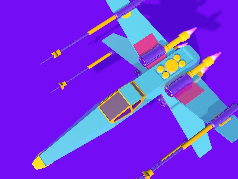 Starwars Plane 3D Model by Saiful Bahri   Dribbble   Dribbble