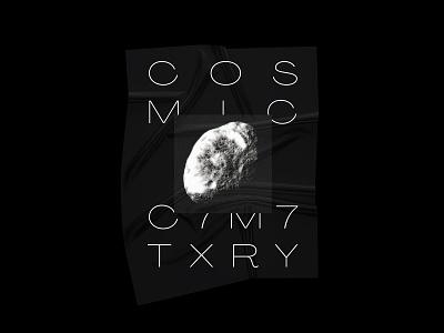 COSMIC C7M7TXRY moon poster futurism universe poster design design digital typography