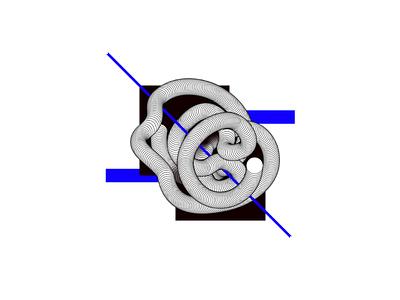 Vicious circle geometry shapes illustration