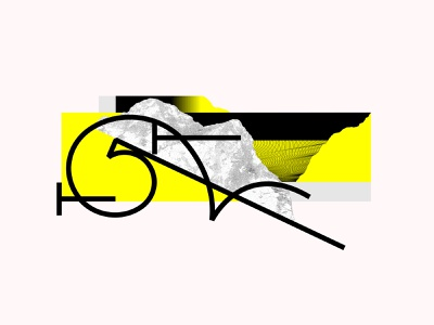 Custom letter shapes design shapes digital illustration form symbol letter abstract design