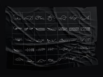 Custom letter shapes shapes digital vector design typography illustration