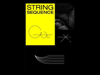 Custom Letter Shapes - String Sequence poster design poster typography digital shapes illustration