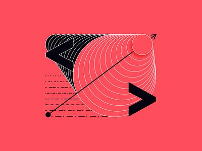 </> illustration design futurism illustration patterns shapes blend circles