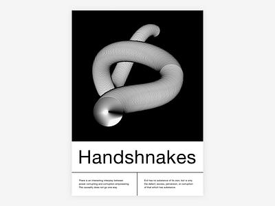 Handshnakes vector typography posterdesign poster design poster illustration
