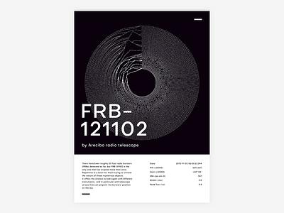 FRB - 121102 universe poster design poster vector lines circle design digital illustration typography shapes