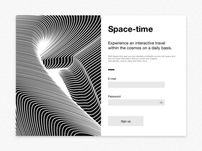Sign up UI ui  ux dailyui daily ui illustration digital app universe space typography form sign up form sign in form sign in signupform signup form sign up signup user interface ui