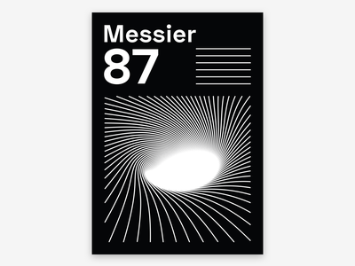 Messier 87 black hole universe galaxy messier 87 shapes typography graphic design poster design poster