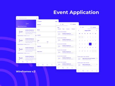 Mobile UI - Event app wireframes