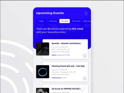 Event App prototype