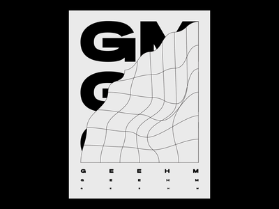 Poster _GM typography design grid graphicdesign poster design typography poster typographic poster typographic typography art typography