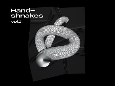 Handshankes - standalone illustration digital shapes lines illustration
