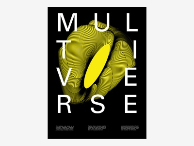Multiverse poster art poster design universe space string theory omniverse multiverse illustration typography poster