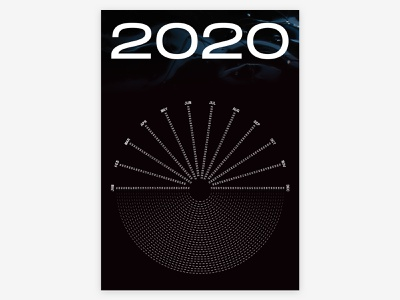 2020 Calendar 2020calendar 2020 calendar poster poster design design universe shapes typography digital illustration