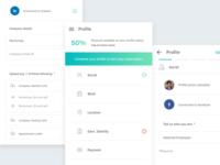 User Profile Screens