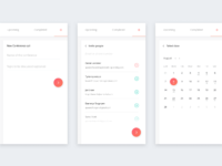 Conference app ui kit all screens