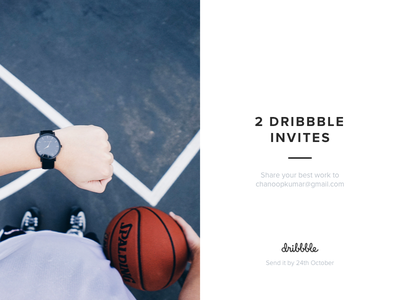 2 Dribbble Invites unsplash ui photo draft 2 invite dribbble