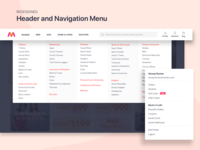 Redesigned Header and Navigation Menu for Myntra