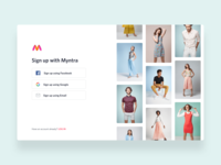 Sign up Redesign Concept For Myntra