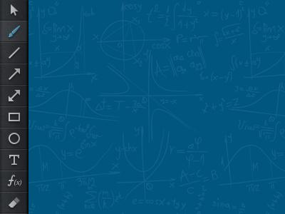 Toolbar for a webapp toolbar icons blue pattern math whiteboard