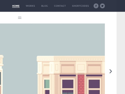 Weald WordPress Theme flat clean wordpress blue navigation slider