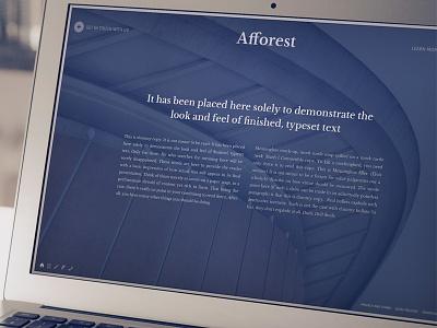 Afforest blue typography slider wordpress theme