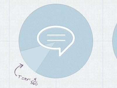 Math Formulas pattern blue light subtle ink pen speech bubble