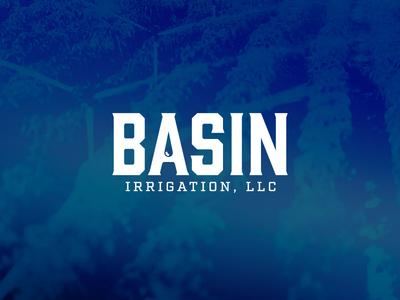 Basin Irrigation, LLC basin water irrigation typeface font logotype wordmark logo