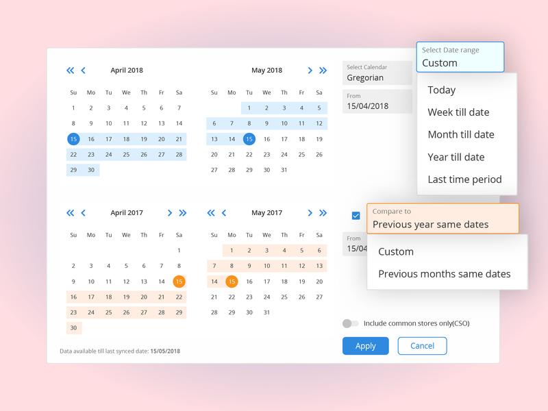 Date range filter by Rajvendra Singh on Dribbble