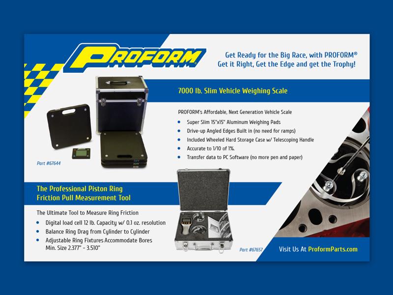 Proform Parts Magazine Ad smallbusiness graphics designer design typography creative freelancer graphicdesign ad advertising