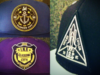 IGC embroidered badge set
