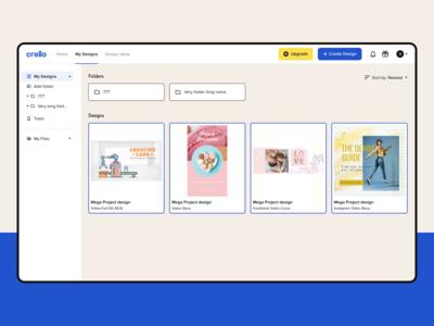Crello – File Management for Social Media Designs