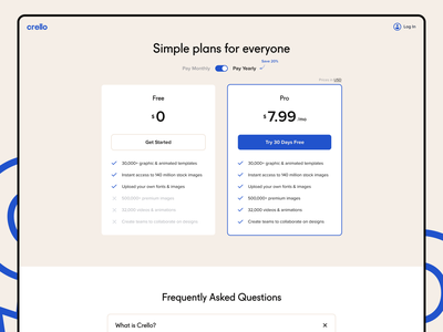 Pricing Plans faq saas finance price minimal page interface digital design ux web ui