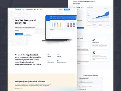 Betafolio homepage redesign minimal interface saas website landing landing page web finance page digital design ui