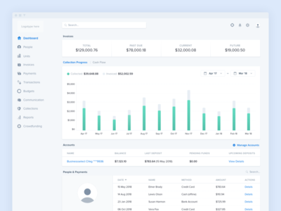 Dashboard - Finance web application