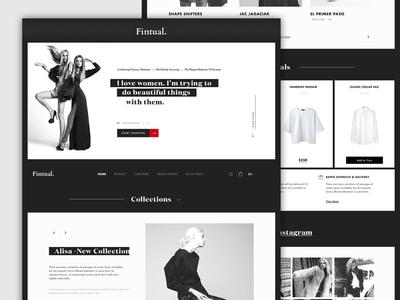 Fashion Minimalist Concept Website