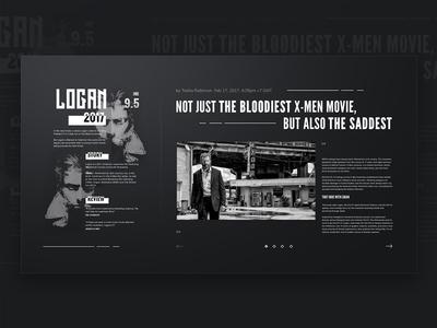 Logan News Page.Concept