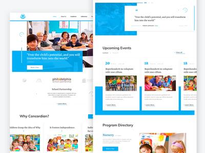 Concordian School Webdesign