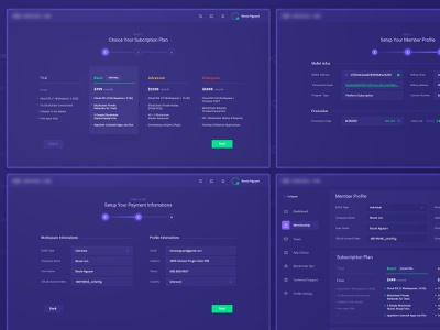 Subscription Plan company contract smart code interface host crypto payment service startup team member subscription plan membership card settings profile blockchain dashboard membership