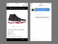 Messaging in Mobile Sneaker App