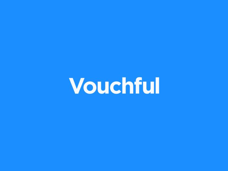 Vouchful Logotype Set logotype logo design logo lettering gotham font light dark blue brand and identity brand