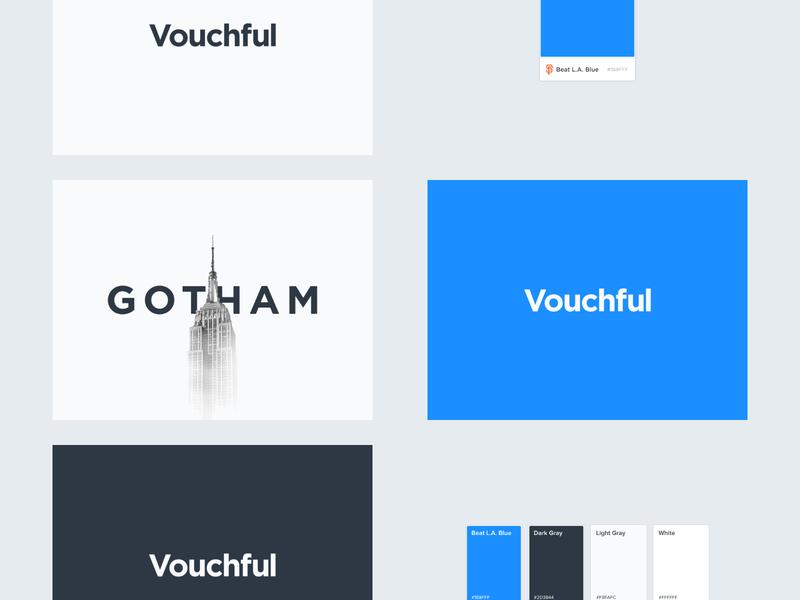 Vouchful Logotype Board board brand and identity brand logo design lettering gotham typography font logotype logo vouchful