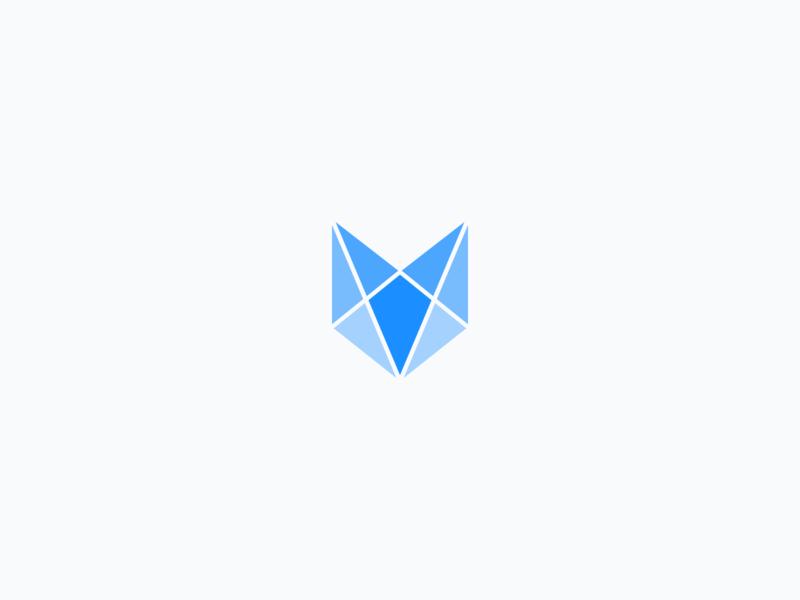 Vouchful Logomark fox abstract geometric logomark logo design logo identity brand vouchful