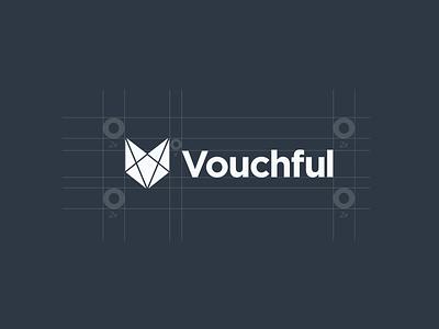 Vouchful Logo Grid and Spec logo grid logo design logo logotype logomark brand and identity brand vouchful