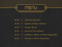 Daily UI No. 43 | Food/Drink Menu #DailyUI #043