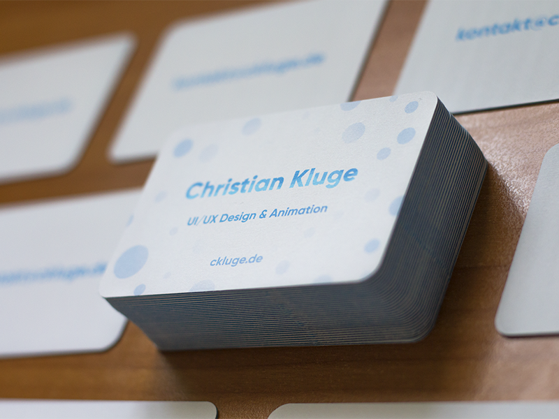 Business Cards By Christian Kluge On Dribbble