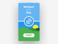 Daily UI No. 62 | Workout of the Day #DailyUI #062