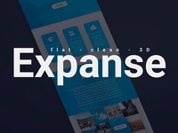 Expanse Onepage PSD