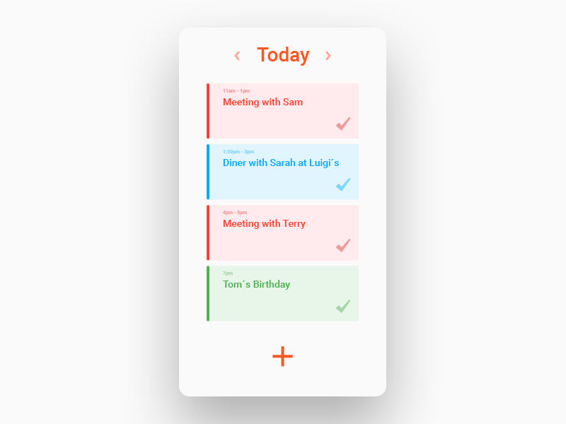 Daily UI No. 71 | Schedule #DailyUI #071 daily ui schedule 071 dailyui